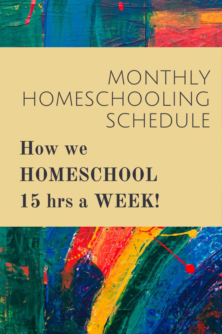 Monthly Homeschooling Schedule ofPreschool