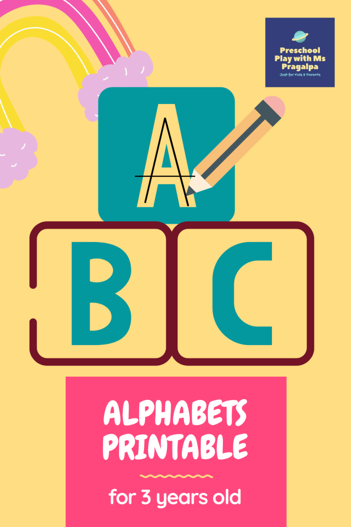 FREE!!! Alphabet Tracing Worksheet for 3 Years Old
